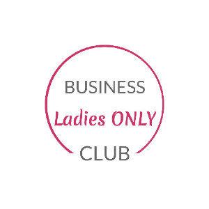 Logo Business Ladies Only Club, die Schrift steht in einem unten vierteloffenen Kreis